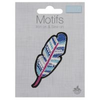 Embroidered Motif - Feather
