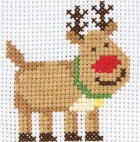 Anchor 1st Cross Stitch Kit Rudolph