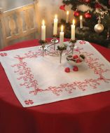 Anchor Dancing Santa Linen Tablecloth Embroidery Kit