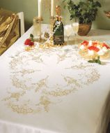 Anchor Festivas Linen Tablecloth Embroidery Kit