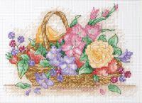 Anchor Floral Basket Cross Stitch Starter Kit: