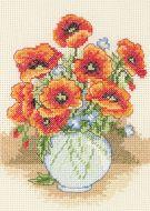 Anchor Poppy Vase Cross Stitch Starter Kit: