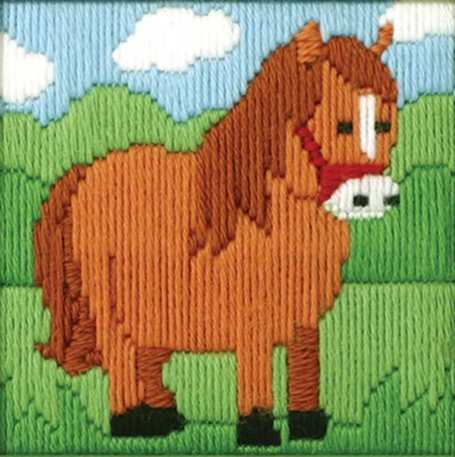 Anchor Starter Long Stitch Kit Ned The Horse