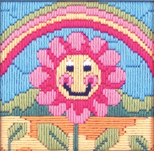 Anchor Starter Long Stitch Kit Friendly Flower