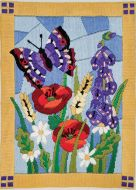 Anchor Long Stitch Kit Stained Glass Butterfly