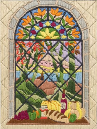 Anchor Long Stitch Kit Autumn Through the Window