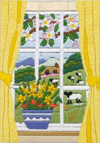 Anchor Long Stitch Kit Spring in the Window