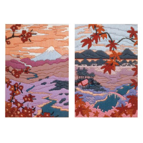 Anchor Long Stitch Kit Serenity & Tranquility (Set of 2)