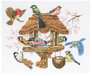 Anchor Premier Bird Table Cross Stitch Kit: