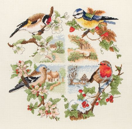 Anchor Birds & Seasons Cross Stitch Kit: