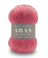 Aran Tweed 400g - Raspberry Tweed 0638