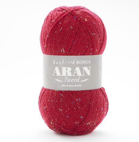 Hayfield Bonus Aran Tweed  0745 Ramsey Red