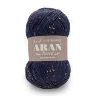 Hayfield Bonus Aran Tweed  0636 Navy Tweed