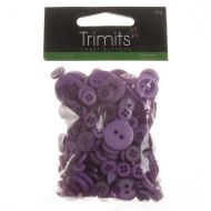 Mixed Craft Buttons - Purple