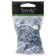Mixed Craft Buttons - Light Blue