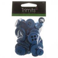 Mixed Craft Buttons - Dark Blue
