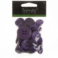 Mixed Craft Buttons - Dark Purple