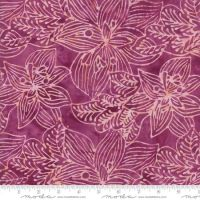 Moda Calypso Batiks Pink Flower