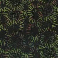 Hoffman Batik Black/Green
