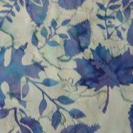 Hoffman Bali Blue Leaves