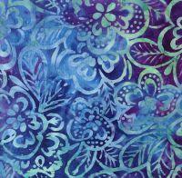 Moda Parfait Batiks Blue Floral