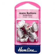 Jeans Buttons - Nickel - 16mm