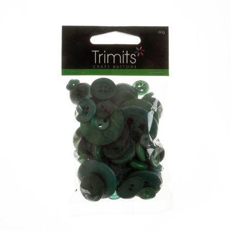 Mixed Craft Button Pack Green