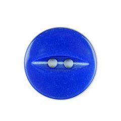 Button H040-043007 Royal Blue Fish Eye