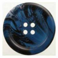Button H040-093654 Bone Effect Blue