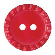 Button - Crimp Edge - Red - 17.5mm