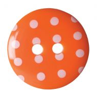 Button - Spotted - Orange - 15mm