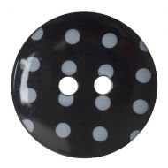 Button - Spotted - Black - 17.5mm