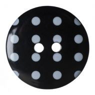 Button - Spotted - Black - 22.5mm