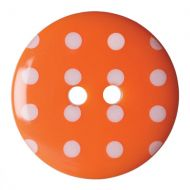 Button - Spotted - Orange - 22.5mm