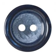Button - 2 Hole Shaded - Navy - 15mm