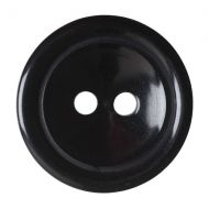 Button - 2 Hole Shaded - Black - 17.5mm
