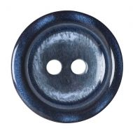 Button - 2 Hole Shaded - Navy - 17.5mm