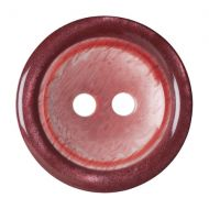 Button - 2 Hole Shaded - Wine - 17.5mm