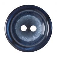 Button - 2 Hole Shaded - Navy - 20mm