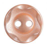 Button - Wavy Edge - Orange - 11.25mm