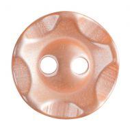 Button - Wavy Edge - Orange - 13.75mm