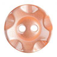 Button - Wavy Edge - Orange - 16.25mm