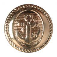 Button - Anchor - Gold - 15mm