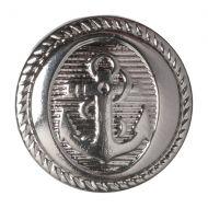 Button - Anchor - Silver - 15mm