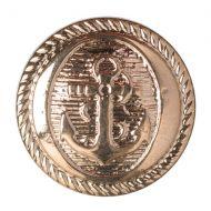 Button - Anchor - Gold - 17.5mm