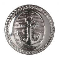 Button - Anchor - Silver - 17.5mm