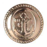 Button - Anchor - Gold - 21.25mm