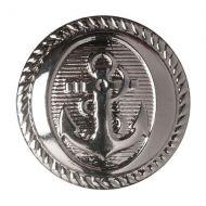 Button - Anchor - Silver - 21.25mm