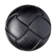 Button - Leather Effect Aran - Black - 15mm