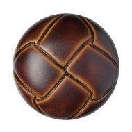 Button - Leather Effect Aran - Brown - 20mm